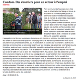 """Article paru dans le journal """"La Dépêche"""" le 23/10/2012"""