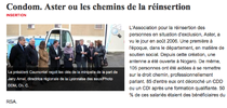 """Article paru dans le journal """"La Dépêche"""" le 29/11/2011"""